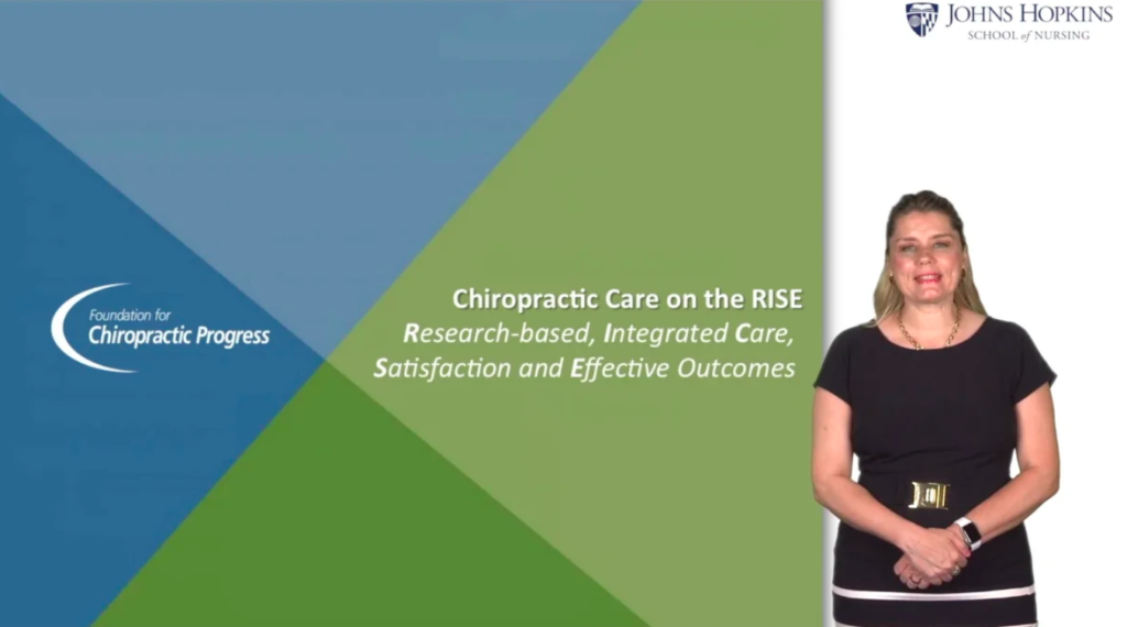Chiropractic care on the RISE video